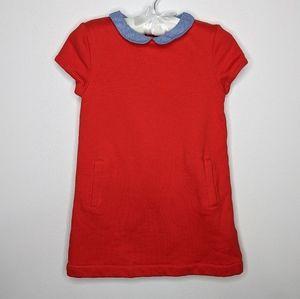 Cyrillus red fleece lined dress 6